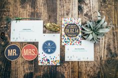 rustic geo paper goods by Nesting Project / photo by Alex Derry Photography Wedding Invitation Paper, Simple Wedding Invitations, Barn Wedding Inspiration, Hipster Wedding, Man And Wife, Event Company, Outdoor Ceremony, Paper Goods, Invitation Design
