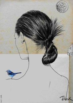 "Saatchi Art Artist Loui Jover; Drawing, ""twists & turns"" #art"