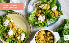 Curry Chicken Lettuce Wraps