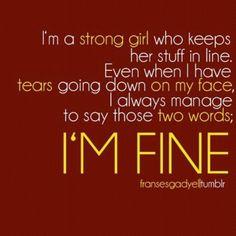 Yes, I'm fine!! :'(