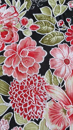 Chita fabric embroidered with white thread.
