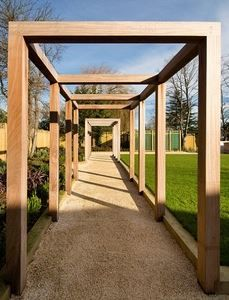 Contemporary oak pergola