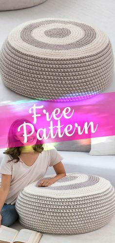 Stylish Pouf [CROCHET FREE PATTERN] #crochetfreepattern #freecrochet #crochet2 #pattern #jobcrochet #croche #howtocroche