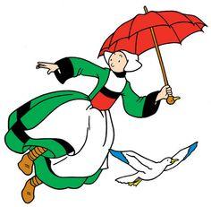 Bécassine : Parapluie et mouette