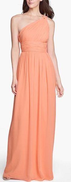 Lovely Orange One Shoulder Dress http://rstyle.me/n/ei33jr9te