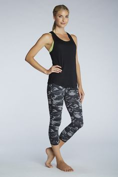 Cute athletic wear line called Fabletics by Kate Hudson. Great prices too!