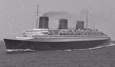 Saint Nazaire built: French liner SS Normandie at sea