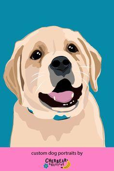 Custom Dog Portraits by Cherbear Creative Studio Your Best Friend, Best Friends, Food Dog, Custom Dog Portraits, Etsy Business, Creative Studio, Dog Lovers, How To Draw Hands, Illustration