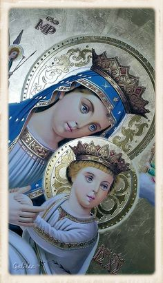 Blessed Mother Mary, Divine Mother, Blessed Virgin Mary, Lady Madonna, Madonna And Child, Religious Icons, Religious Art, Hail Holy Queen, Designer Dog Collars