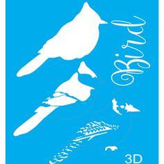 Stencil para Pintura 20x15 Bird 2 LSM-032 - Litocart - PalacioDaArte