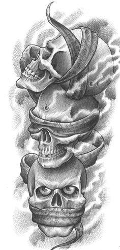 Hear NO Evil, See No Evil, Say No Evil Skulls
