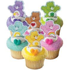 Find care bears cupcake picks at Birthday Direct Care Bears, 3rd Birthday Parties, Birthday Party Favors, 2nd Birthday, Birthday Ideas, Care Bear Birthday, Care Bear Party, Bear Cupcakes, Cupcake Cakes