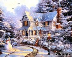 christmas cozy homes thomas kinkade christmas art vintage christmas .