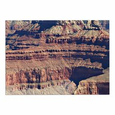 Kess InHouse Sylvia Coomes Grand Canyon Landscape 1 Brown Tan Wall Tapestry 51 x 60