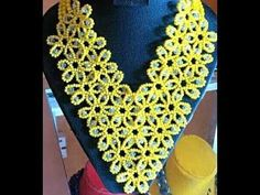 the tutorial on how to make this beautiful yellow and silver necklace bead. Beaded Jewelry Patterns, Beading Patterns, Initial Pendant Necklace, Beaded Necklace, Flower Necklace, Kids Gold Jewellery, Beaded Jewellery, Jewellery Designs, Silver Ring Designs