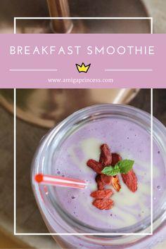 breakfast smoothie, www.amigaprincess.com