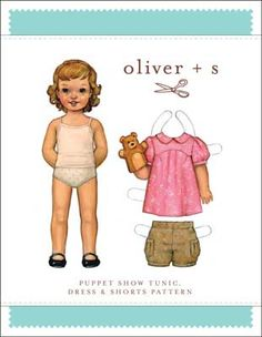 Oliver S Girls Music Class Blouse and Skirt Pattern Infants Childrens Sewing Patterns, Skirt Patterns Sewing, Dress Sewing, Smocking Patterns, Clothes Patterns, Sewing Ideas, Sewing Crafts, Puppet Show, Vintage Paper Dolls