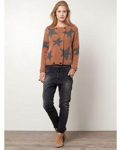 Star patterned cardigan - Knits - Scotch & Soda Online Shop