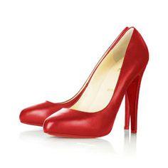 Christian Louboutin Rolando Patent Hidden Platform Pumps Red   Vogue-trends.com