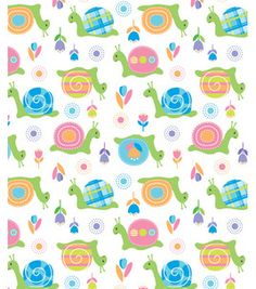 Novelty Cotton Fabric- Patterned Snails & novelty quilt fabric at Joann.com