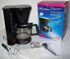 Portable Coffee Maker 12V Cig Lighter Power Filter Car SUV Van RV Truck Whistler #whistler
