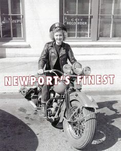 Frances Ziemieczuk was Newport's only female motorcycle police officer.    June 23, 1948.