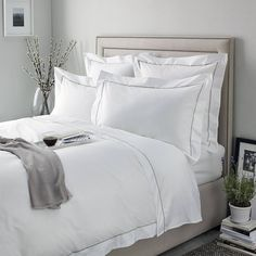 """817 Gostos, 2 Comentários - Official Instagram (@thewhitecompany) no Instagram: """"Sumptuously soft bed linen that creates the perfect night's sleep, every night.  Shop our 'Savoy…"""""""
