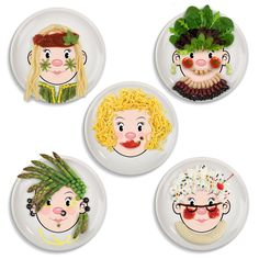 Amazon.com   Fred and Friends MS FOOD FACE Kids Dinner Plate: Dinner Plates
