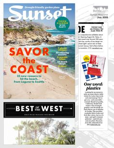 BottleCloth was named 'Best Recycling' in Sunset Magazine's August 2015 Best of the West roundup!  Yay us!