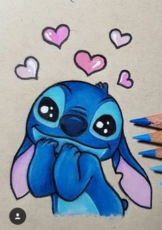 Most current No Cost drawing disney stitch Ideas Many people start drawing because they're attracted by the look of a common characters—and often Cute Disney Drawings, Cool Art Drawings, Art Drawings Sketches, Kawaii Drawings, Easy Drawings, Drawing Disney, Drawing Ideas, Drawings Of Stitch, Disney Pencil Drawings