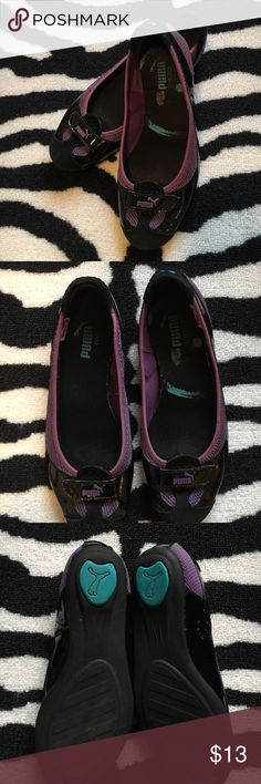 "PUMA Zander Patent Flat PUMA ""Zandy"" patent leather and mesh flats. Size 7.5. True to size. In preloved condition with some signs of wear to insoles and bottom soles. Very cute and comfy. Puma Shoes Flats & Loafers"