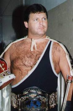 """I'm stealing Will's idea, only it relates to someone who actually established a long career in wrestling. His name is Jerry """"the KING"""" Lawler. The man. Superstar Billy Graham, Jerry The King Lawler, King A, Professional Wrestling, Memphis, Black Pants, The Man, Wwe, Champion"""