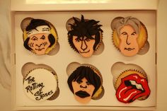 The rolling stones cupcakes
