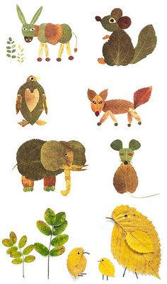 soooo cute! leaf animals
