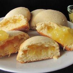 """If my refrigerator could talk. it would say, """"YUMMM"""": Pineapple Filled Cookies Filled Cookies, Roll Cookies, Sweet Cookies, Yummy Cookies, Cookies Et Biscuits, Stuffed Cookies, Edible Cookies, Cookie Desserts, Cupcake Cookies"""