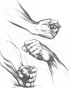 The fist closes tightly around the fingers of the point and thereby drives home the point. Got the point?