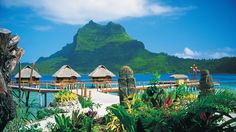 bora bora - Someday - I will spend my vacation in one of these huts over water - oh yes, I will