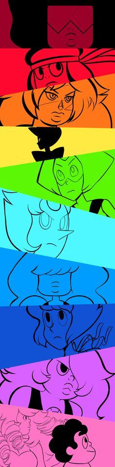 Color Themed Gems by sketchabee.deviantart.com on @DeviantArt