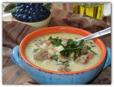 Zuppa Tuscana copycat recipe - MUST MAKE someday, even if I am the only one who would eat it. :)