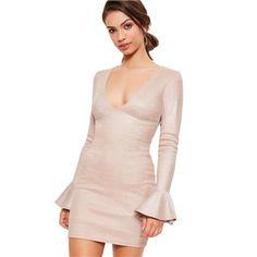 Ružové šaty s jemným leskom MISSGUIDED veľký