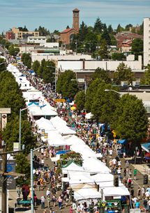 West Seattle Summer Fest July 13-15 ....This would be about the view from my apt.
