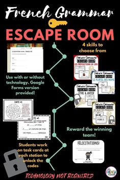 Printing Ideas Useful How To Learn French Book Info: 9997616227 French Teaching Resources, Teaching Spanish, Spanish Activities, Work Activities, Language Activities, Teaching Reading, Teaching Ideas, Escape Room, French Classroom Decor