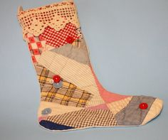 Christmas Stocking Made from Vintage Quilt by SewNiceandPaint, $19.50