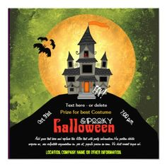 CLICK ON THE LARGER IMAGE TO SEE PRICING AND PURCHASING INFORMATION ... Haunted House Halloween Party Invite