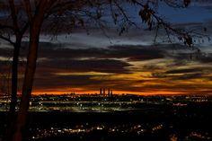 Gorgeous shot of Madrid at nightfall