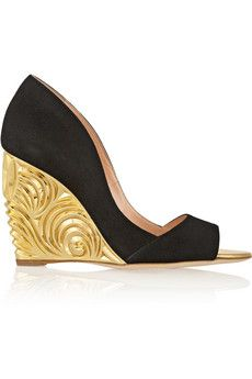 Rupert Sanderson Satire suede wedge pumps | THE OUTNET