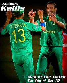 Jacques Kallis became the Man of the Match for his excellent performance!  #SAvsZIM on September 20, 2012.