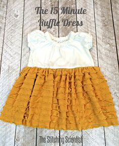 15 Minute Ruffle Dress | The Stitching Scientist #ruffles #diy #easysewing