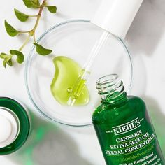 Shop Kiehl's Cannabis Sativa Seed Oil Herbal Concentrate at Sephora. This lightweight, non-comedogenic herbal facial oil helps calm skin and reduce redness. Facial Cream, Facial Oil, Acne Oil, Oregano Oil, Herbal Oil, Packaging, Hemp Oil, Cleanser, Beauty Products