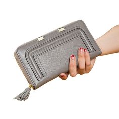 Fashion Women's Genuine Leather Wallets Female 100% Real Leather Purse Ladies Leisure Cowhide Tassel Phone Coin Purse CZ5036